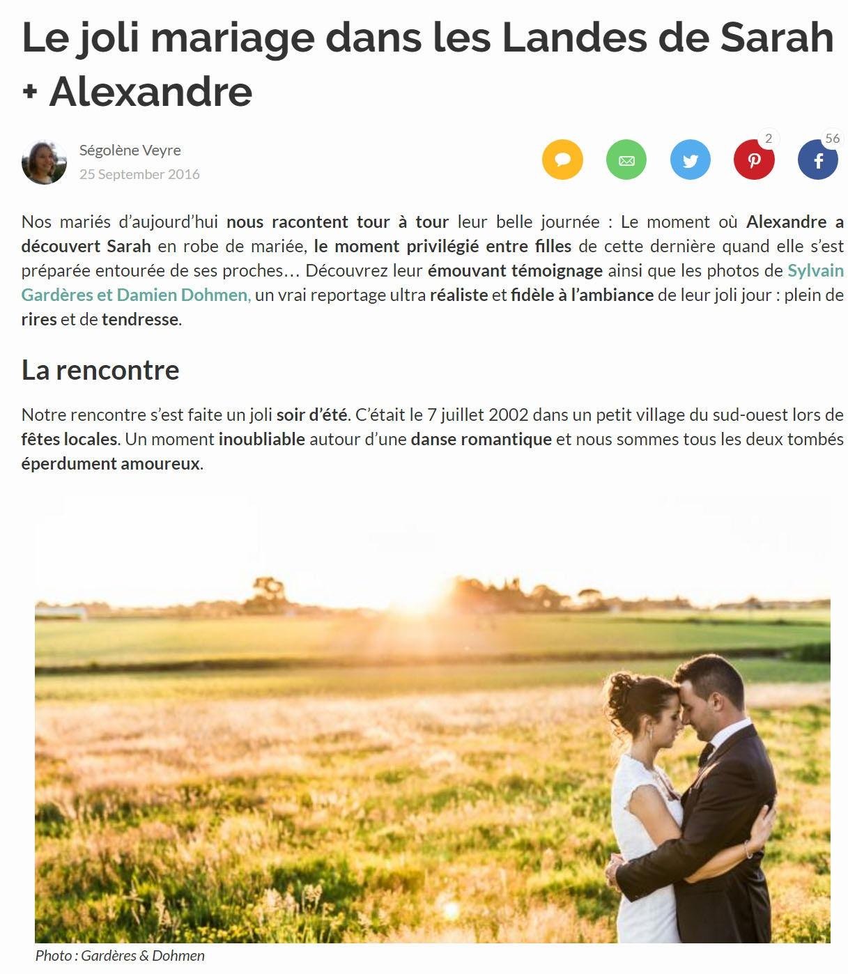 publication site mariage Zankyou