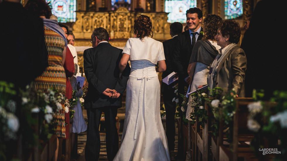 l'entrée de la mariée à l'église