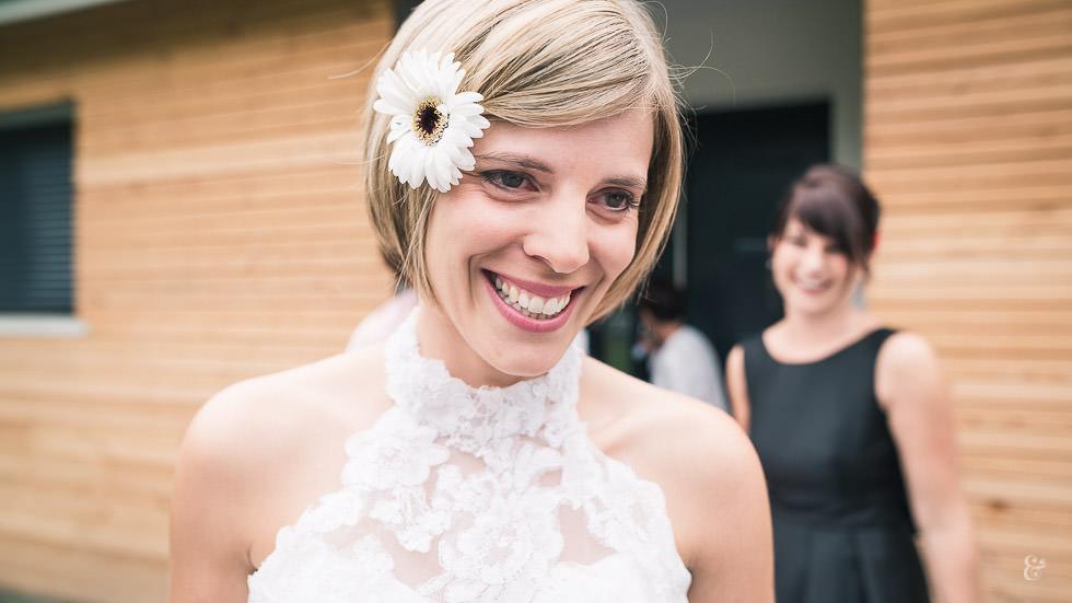émotion de la mariée