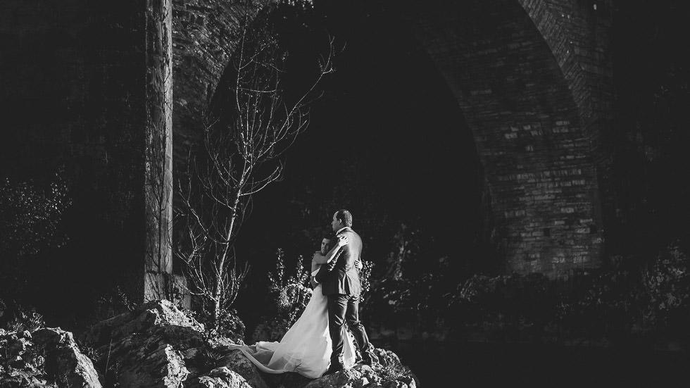 Mariés sous le Pont Vieux