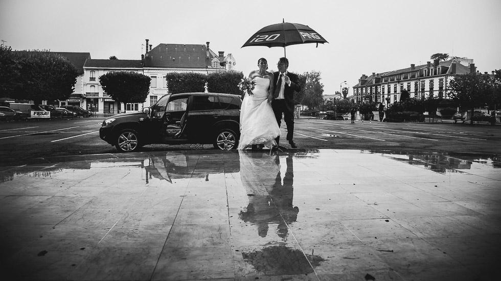 arrivée de la mariée à la mairie d'Orthez