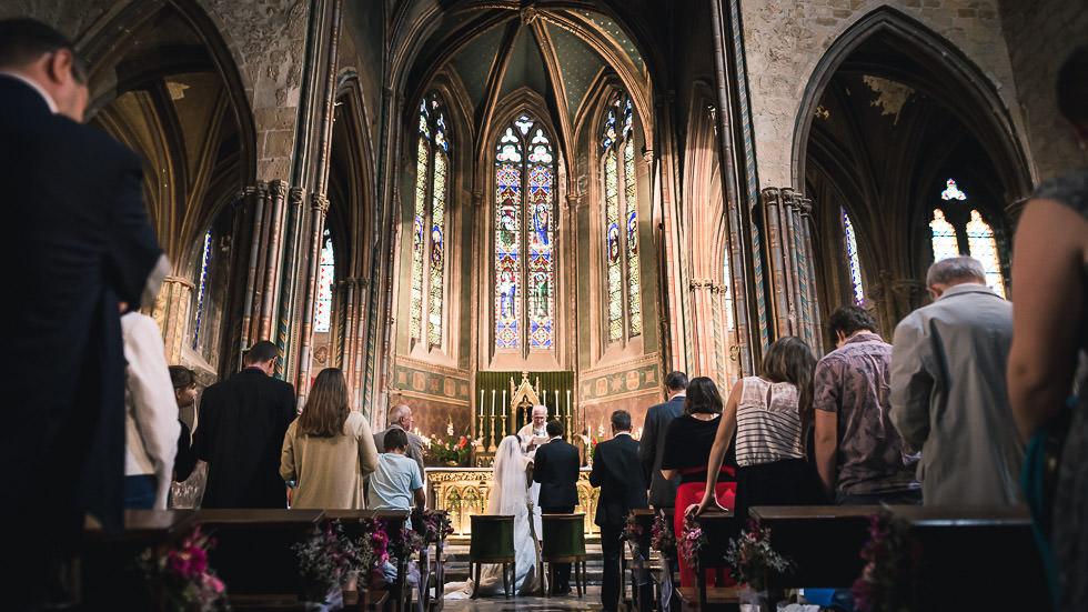 mariage à l'église d'Orthez