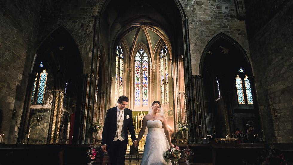 sortie des mariés après la cérémonie