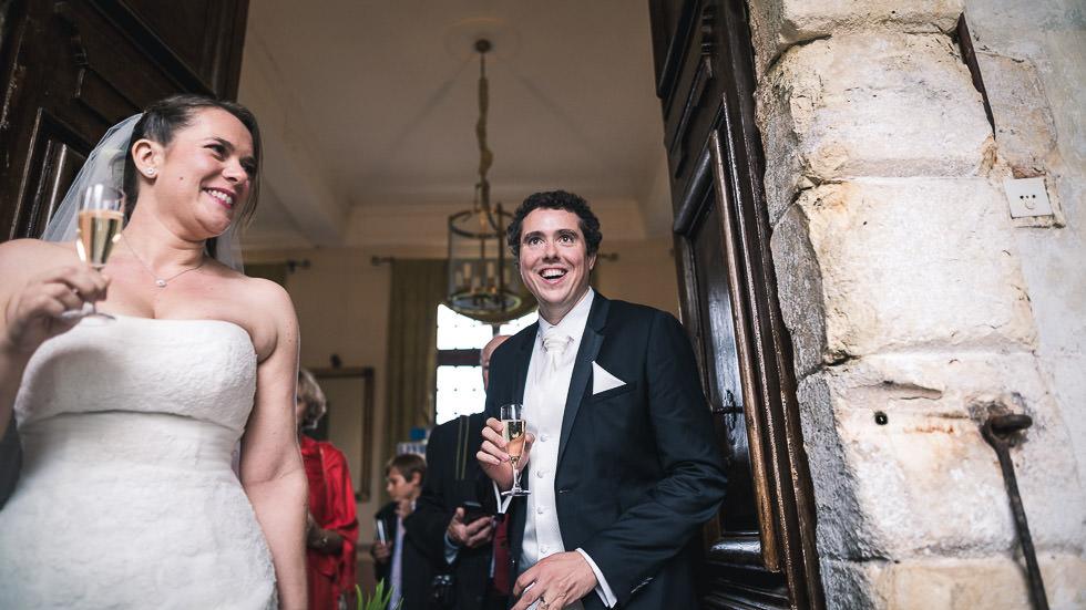 les mariés au Château de Gaujacq