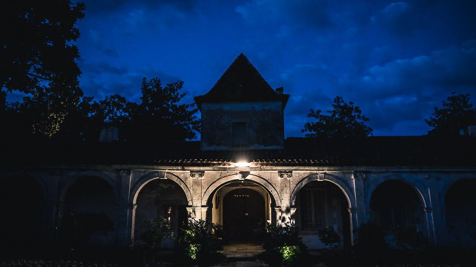 château de Gaujacq de nuit