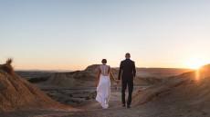 séance dans le désert des Bardenas