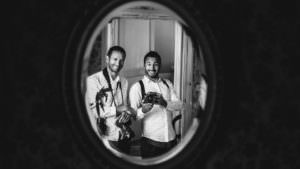 Portrait de Gardères & Dohmen duo photographe mariage Pays Basque