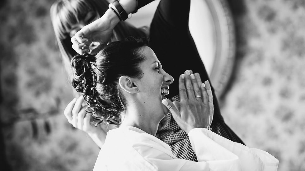 le rire de la mariée