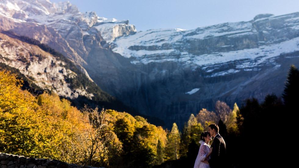 photographie de couple de mariés