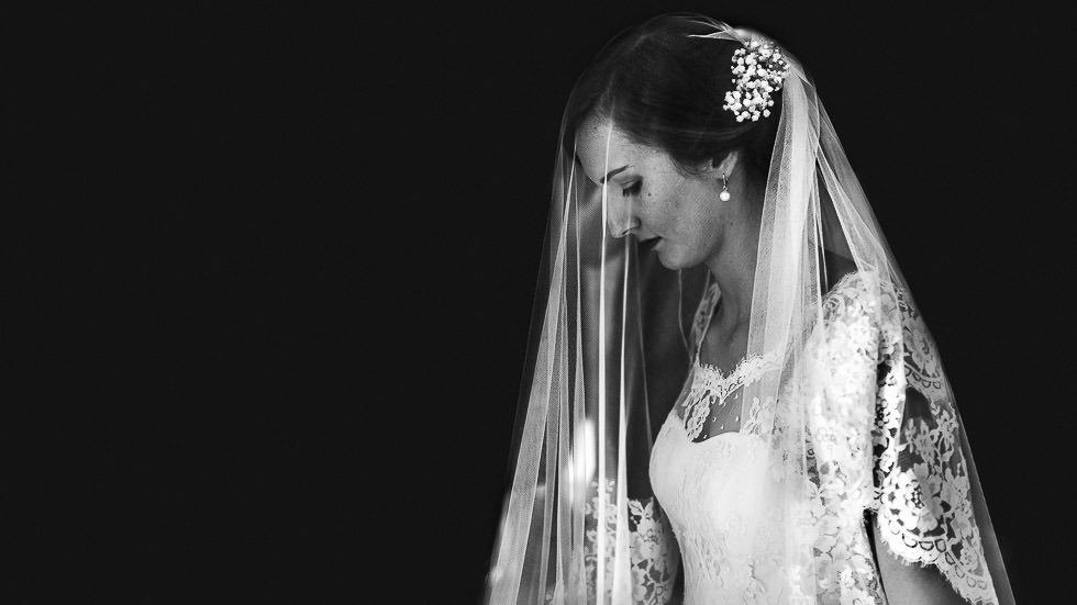 la mariée en Noir & Blanc