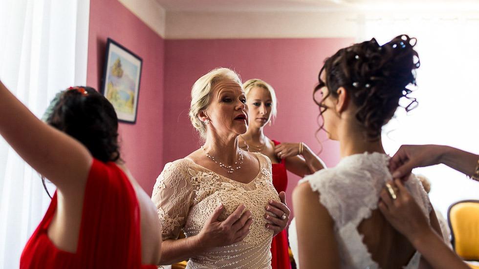 les conseils de la maman de la mariée