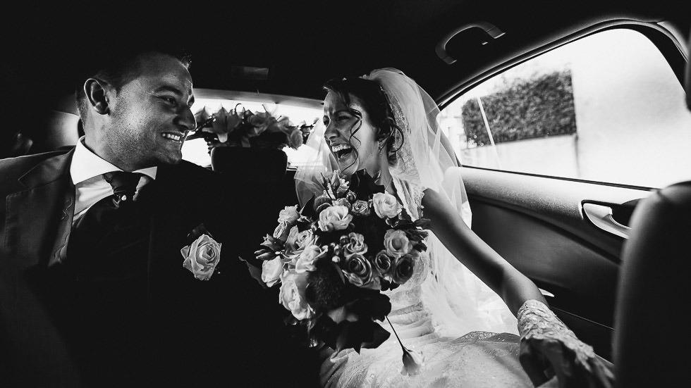 les mariés en voitrure