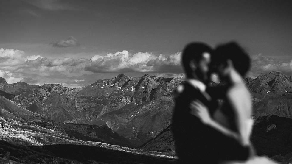 mariés à la montagne