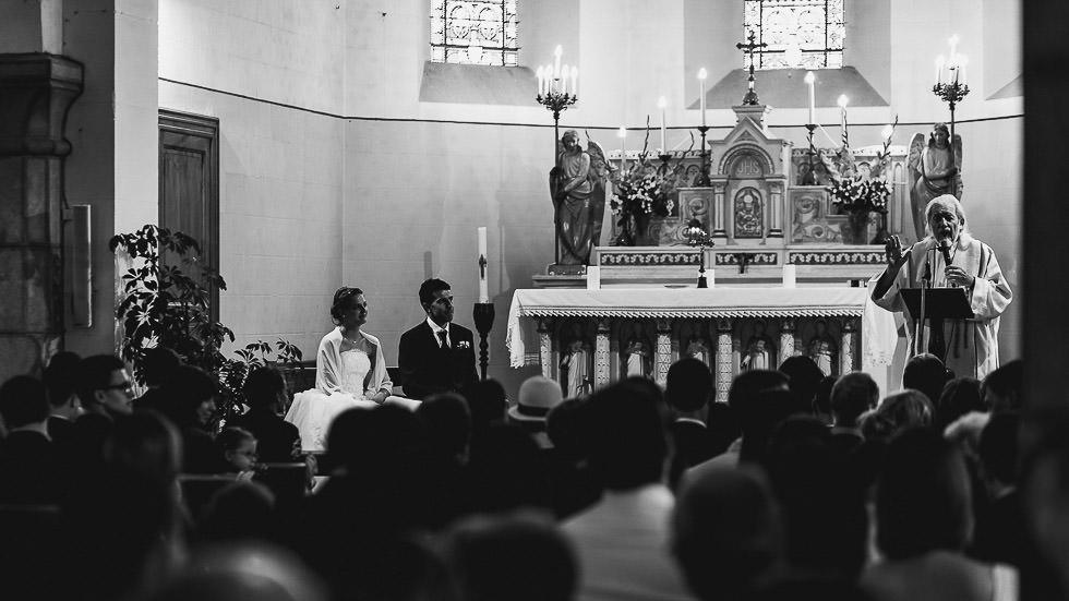 mariage à l'église d'Artiguelouve