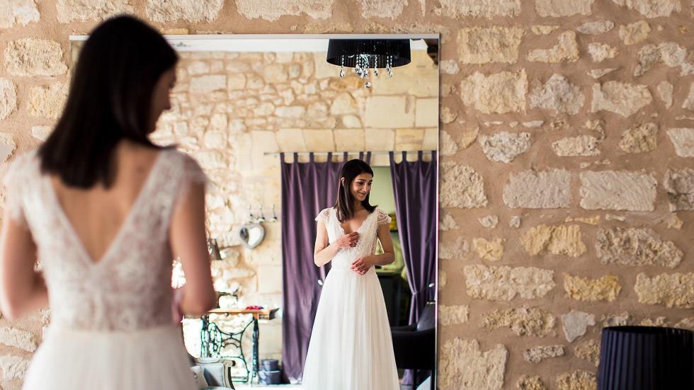 Essayage de la robe de mariée
